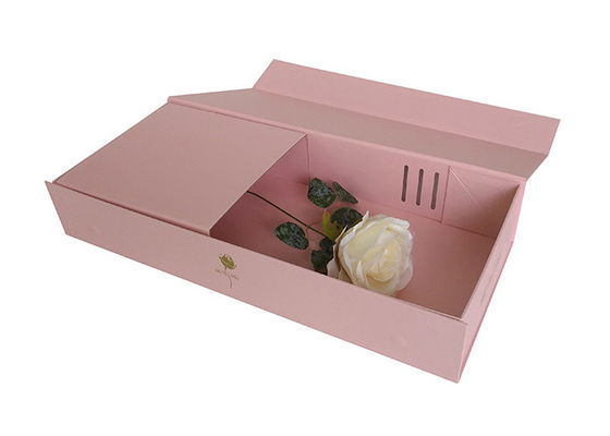Beautiful Shipping Packaging Cardboard Flower Boxes For Luxury Rose Delivery